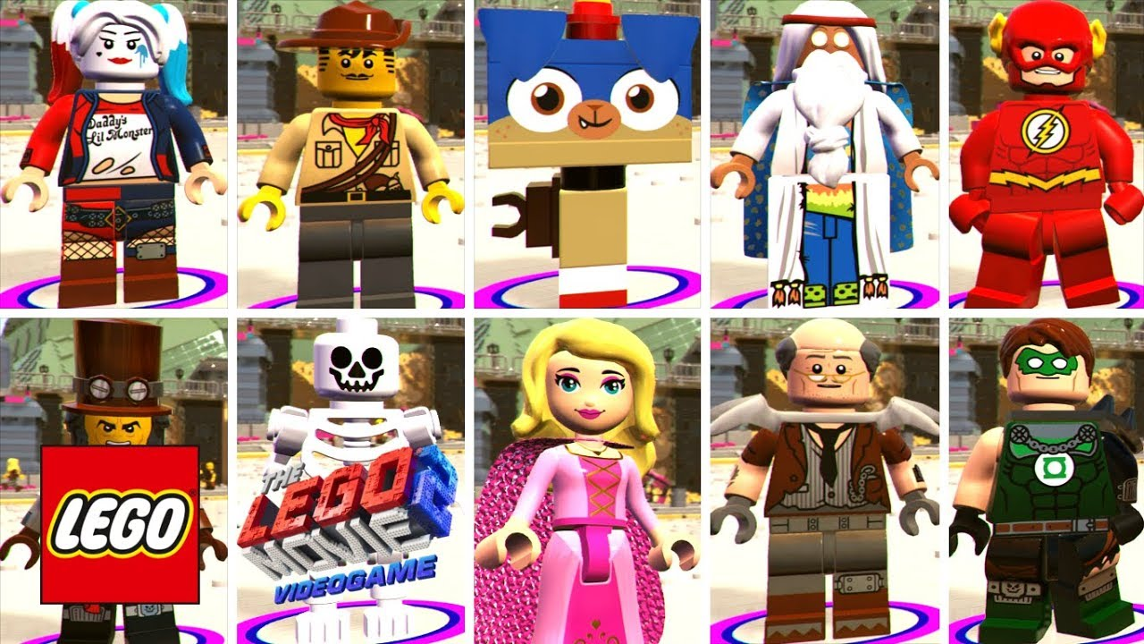The Lego Movie 2 Videogame All Characters Unlocked Youtube