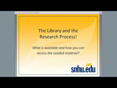 The Library and the Research Process CC