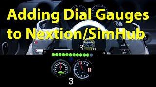 Adding dial gauges to Nextion TFT HMI for SimHub