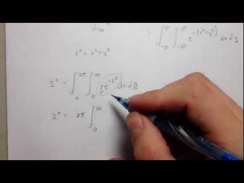Evaluation of the Gaussian Integral exp(-x^2) - Cool Math Trick