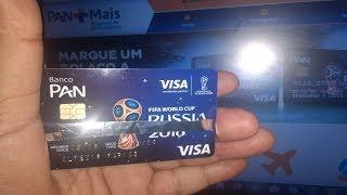 Cartão Pan Visa Internacional, sem anuidade e sem comprovação de renda