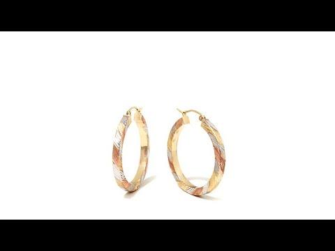Michael Anthony Jewelry 10K DiamondCut 30mm Hoop Earrings