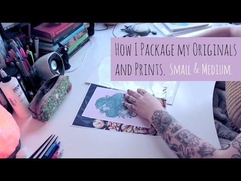 How I Package My Art - Small And Medium Sizes