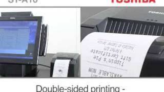 The rugged toshiba tec st-a10 touch screen pos terminal, specifically designed for point-of-sale both restaurant and retail applications. this terminal h...