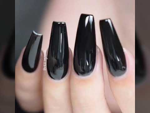 Uñas Decoradas Con Color Negro Youtube
