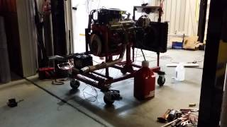 1964 Corvette 327 Engine Running on stand