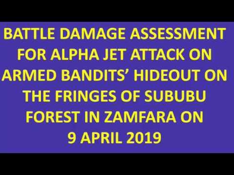 NAF RECORDS SUCCESSFUL AIR STRIKES AGAINST ARMED BANDITS IN ZAMFARA STATE