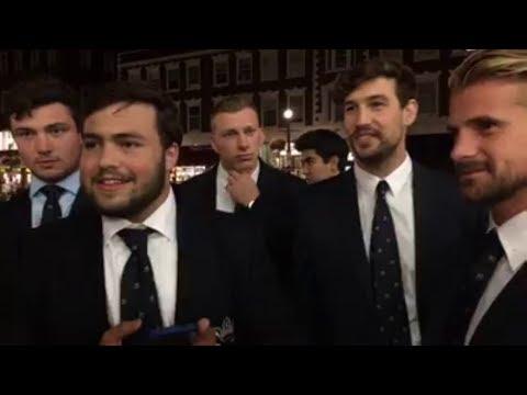 Flat Earth vs Oxford University students at Harvard Square
