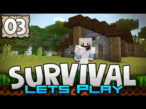 OUR LOVELY HOME!!! - Survival Let's Play Ep. 03 - Minecraft 1.2 (PE W10 XB1)