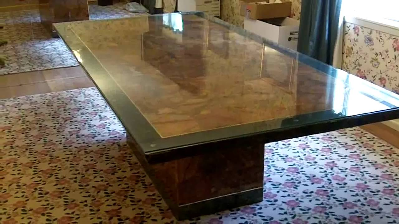 Solid Marble Dining Table 4x8 W Emerald Border Youtube