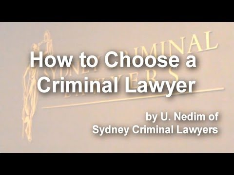 How to Choose a Criminal Lawyer