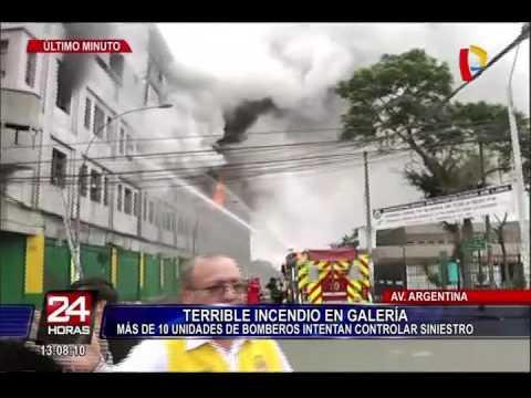 Impactantes imágenes: incendio de grandes proporciones consume galería cerca a Las Malvinas (1/3)