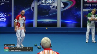 Just. 2019 World  Ndoor Bowls Championships Day 4 Session 3