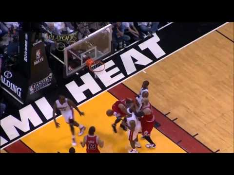Dunk of the Night: Derrick Rose (6ft.3) UNREAL One-Handed Dunk on Joel Anthony (6ft.9) in HD