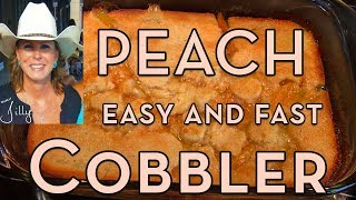 Peach Cobbler with Canned Peaches ~ Easy Cobbler Recipe