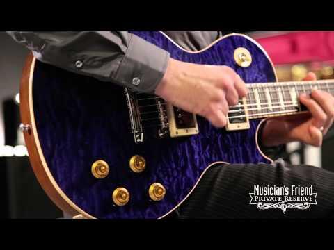 Gibson Custom Les Paul Class 5 Quilt Top Electric Guitar Transparent Blue
