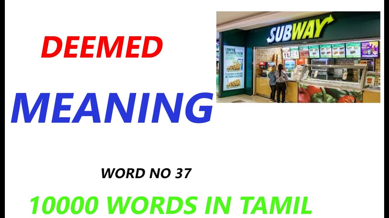 Deemed tamil meaning Deemed meaning in tamil with example ...