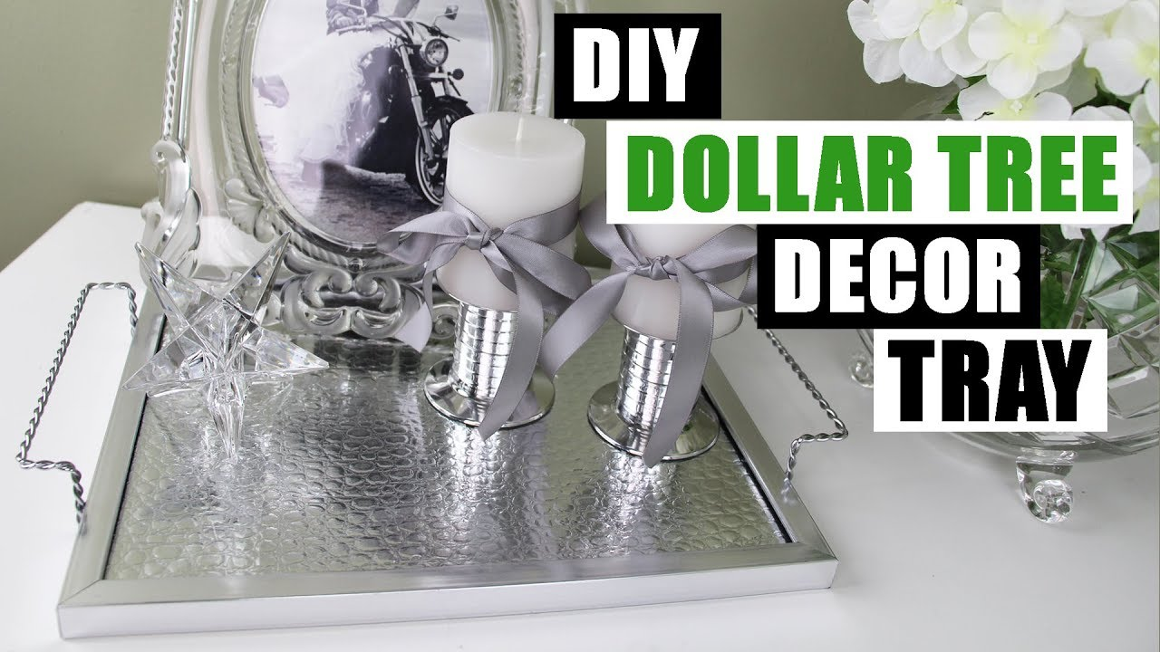 diy dollar tree decor tray with handles dollar store diy glam tray
