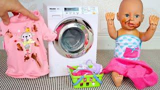 Беби Анабель Съела Мамину Нутеллу Как Мама Стирала Одежду Куклы Мультик для детей