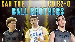 CAN THE BALL BROTHERS GO 82-0 IN NBA 2K17???