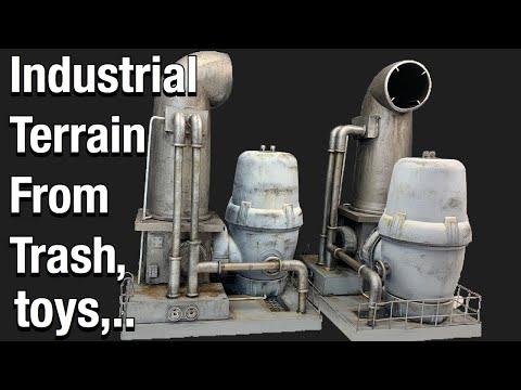 Industrial terrain from