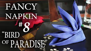 "Fancy Napkin #8 - ""Bird of Paradise"""