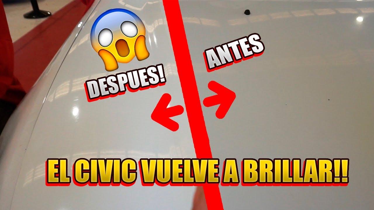 🔴PULIMOS Y ABRILLANTAMOS el civic! QUEDA COMO NUEVO!😍😍
