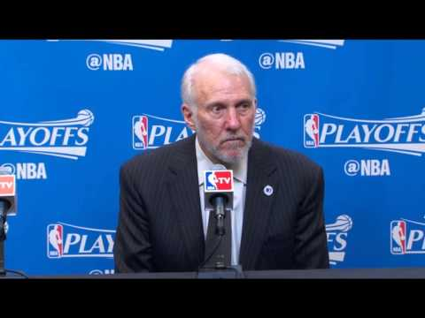 Greg Popovich awkward post game interview following Game 1 win over the Thunder