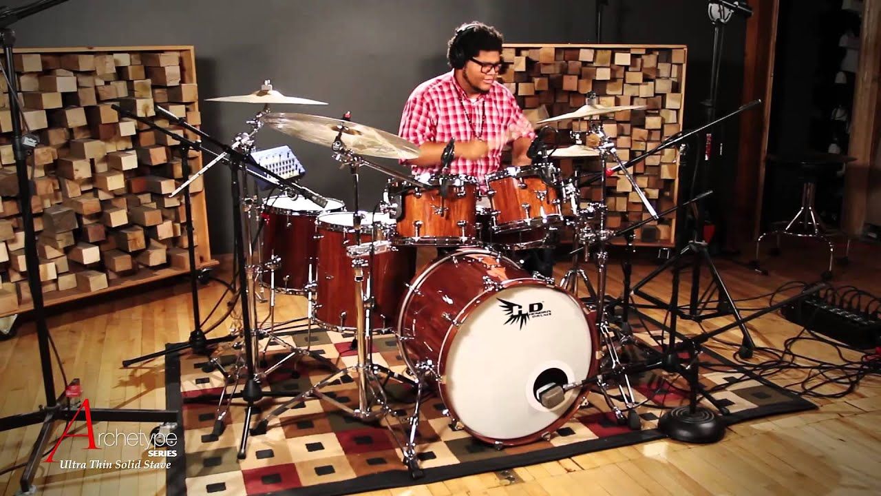 hendrix drums archetype series teddy grant gospel drumming stave drum kit and snare drum youtube. Black Bedroom Furniture Sets. Home Design Ideas
