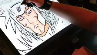 Drawing The Second hokage On The Wacom Cintiq 21ux