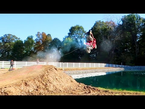 OVER THE POND!! Street Bike Jump