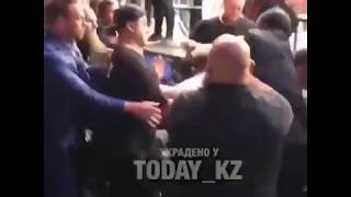 Khabib jumps out of Octagon to attack Conor McGregor's homie