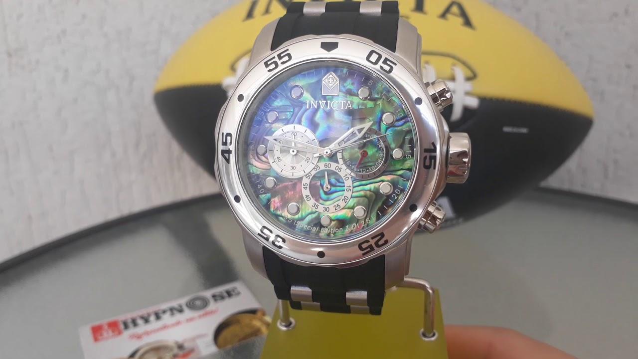 f59354fc570 Relógio Invicta Pró Diver. Ref 24838 prata original - YouTube