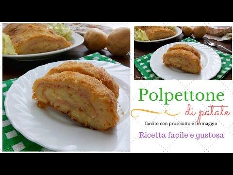 Polpettone di patate farcito - Ricetta facile e gustosa