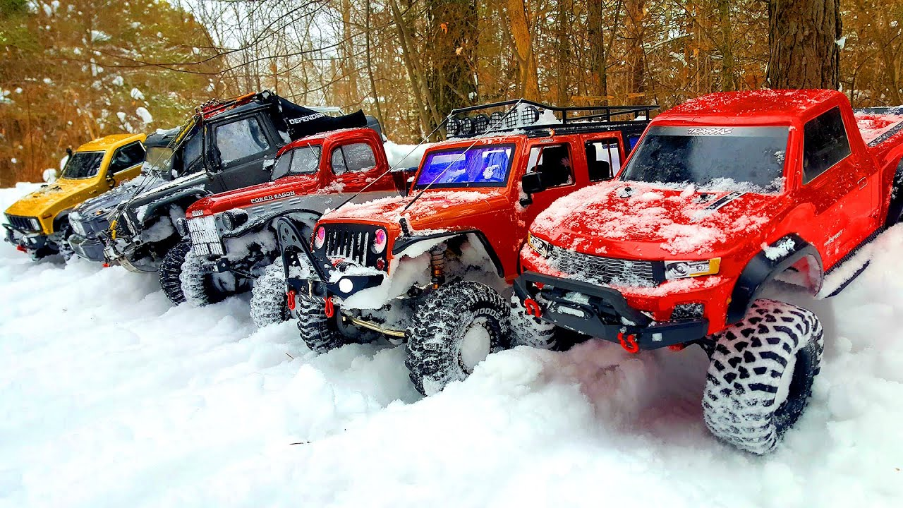 Mercedes Benz G 63 AMG 6x6 Traxxas TRX6 and 10 RC Cars   Snow OFF Road Adventures – Wilimovich