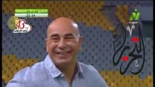 بالفيديو.. كوميديا حسام حسن في مباراة المصري والمقاصة