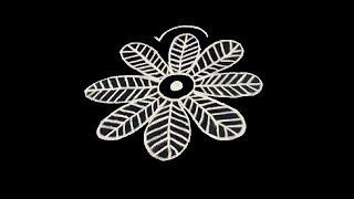 creative freehand rangoli designs ||easy kolam for beginners || friday muggulu designs