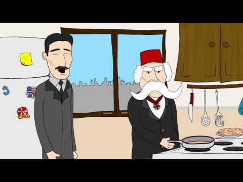 Nikola Tesla i Vuk Karadzic peku palacinke