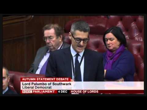 Lord Palumbo of Southwark on the Autumn Statement 2014