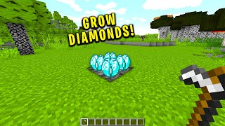 Cursed minecraft but diamonds can be grown