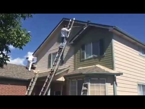 Exterior siding spray paint part 1 youtube - How to spray paint your house exterior ...