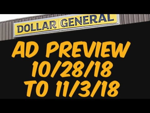 Dollar General Ad Preview 10/28/18 & November P&G Coupon Insert