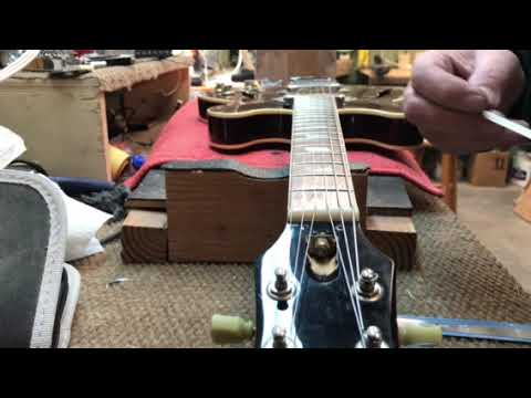 How To Cut A Nut On A Epiphone Casino