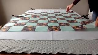 Beginner Quilt: Basting the Quilt (2 of 4)