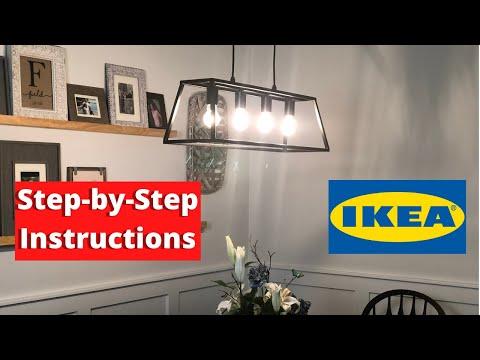 Wiring a Pendant Light Fixture | IKEA Felsisk Installation Instructions