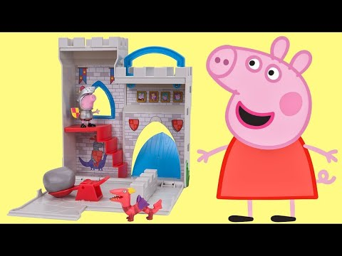 Princess PEPPA PIG & Sir George Little Fort Castle Playset