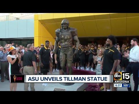 ASU unveils new Pat Tillman statue at Sun Devil Stadium