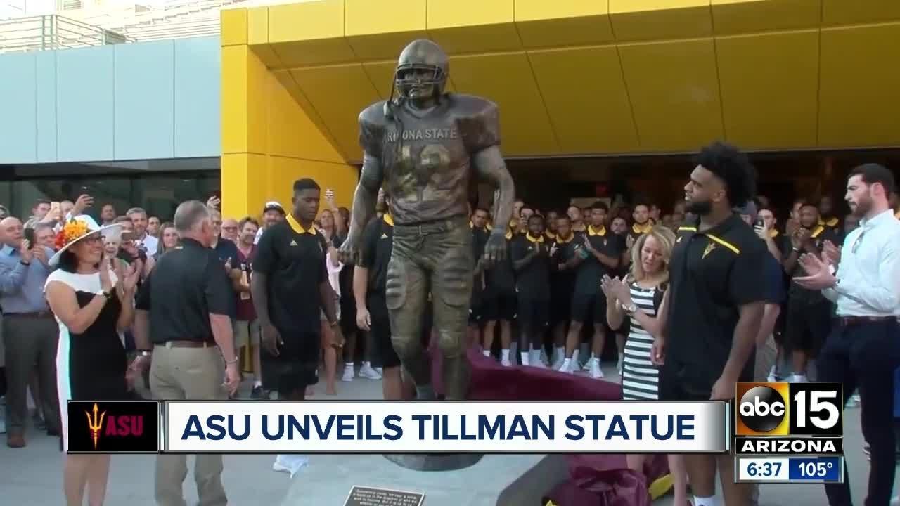 ASU unveils Pat Tillman statue at Sun Devil Stadium