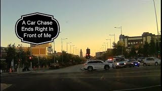 POLICE CAR CHASE ENDS RIGHT IN FRONT OF ME || DASHCAM ||Large Family of 13