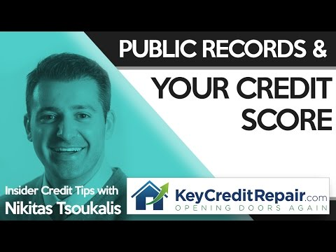 Key Credit Repair Public Records And Your Credit Score